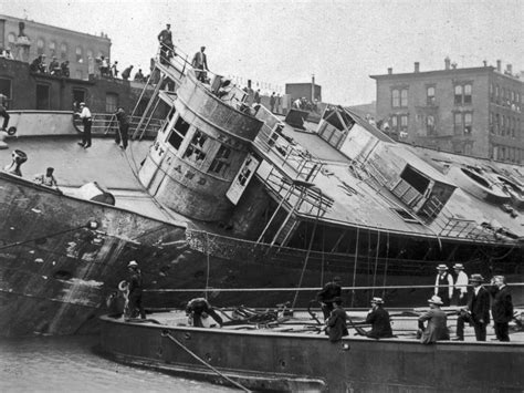 boat crash chicago chicago ship new footage discovered of 1915 disaster that