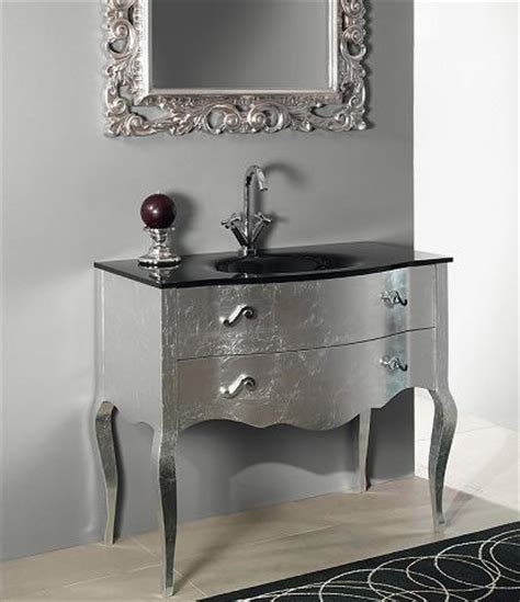Silver Bathroom Vanity Metallic Bathroom Vanities A Surprising New Trend For A Variety Of Bathroom Styles