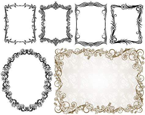 eps format border design free download commonly used ornate border vector free vector in