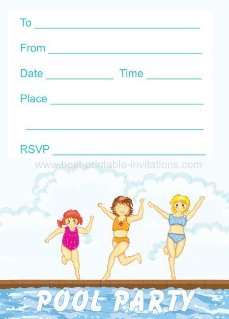 45 Pool Party Invitations Kitty Baby Love Pool Invitations Templates Free