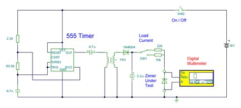 zener diode tester using 555 how to build zener diode tester circuit diagram