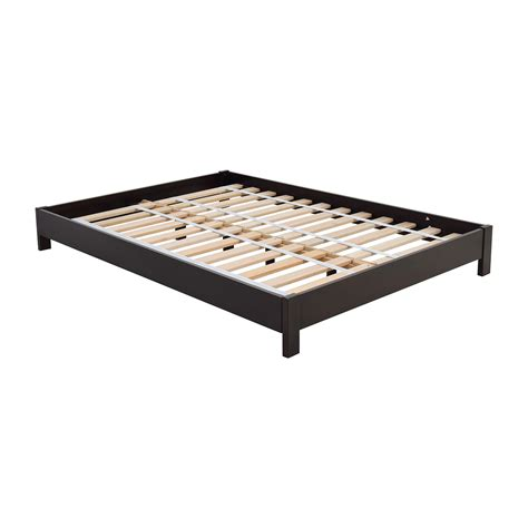 platform bed frame full 44 off west elm west elm simple low full size platform