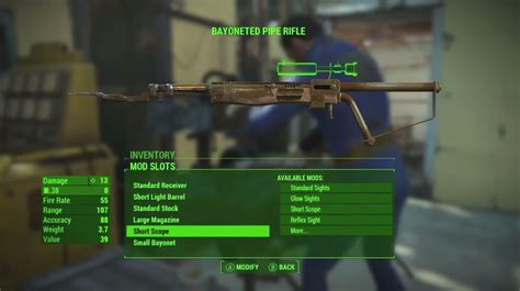Mechanics Savings Bank Harley Giveaway - fallout 4 gun crafting bayonet piper rifle xbox one ps4 pc