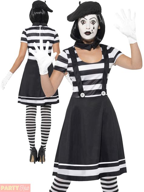 clothing shoes accessories costumes womens costumes adults mime artist fancy dress mens ladies french circus