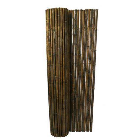 backyard x scapes rolled bamboo fencing backyard x scapes 1 in d x 6 ft h x 8 ft w black rolled bamboo fence hdd bf13black