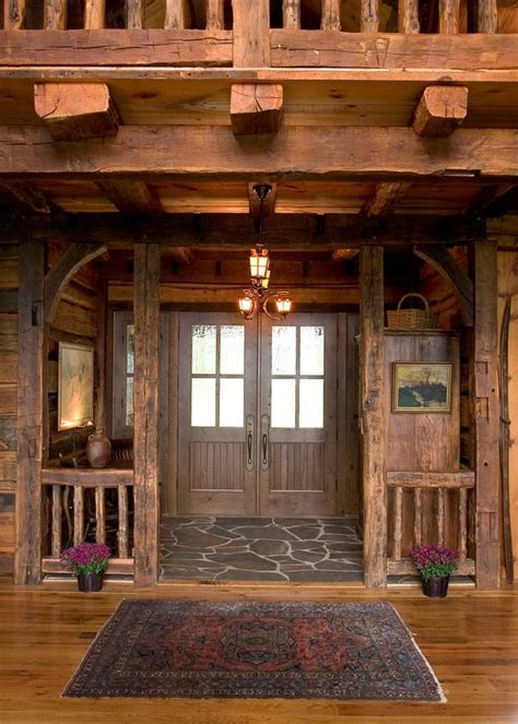 Cabin Siding Ideas - log home foyer ideas trgn c0de08bf2521