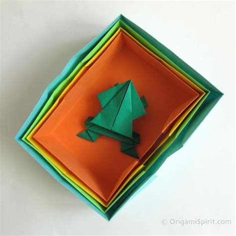 Origami Easy Box - how to make an easy origami box simple origami box with lid