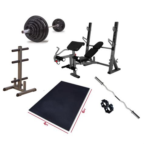 olympic bench press set premium olympic bench press package