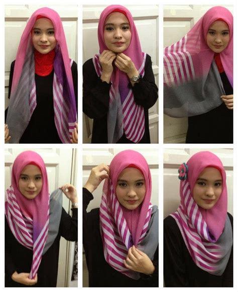Gaya Kerudung Segi Empat cara mudah memakai jilbab segi empat cantik
