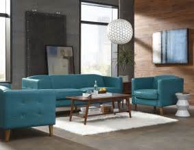 Teal Living Room Furniture Miami Teal Leather Living Room Set From Lazzaro Coleman Furniture