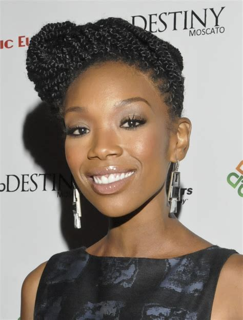 brandy loves natural hair but says as an actress she has 15 natural hair styles you should try beauty high