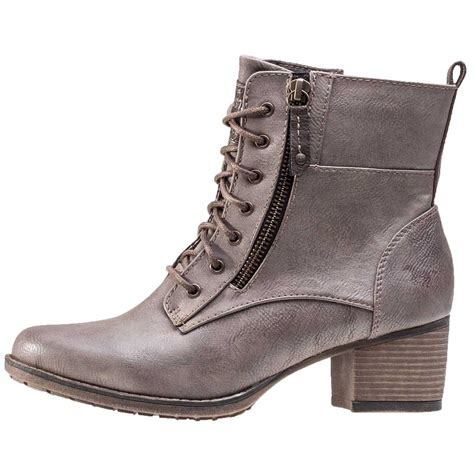 in boots mustang heel ankle boot womens ankle boots in taupe
