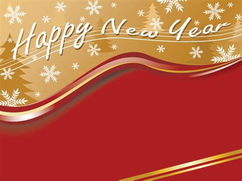 Happy New Year Powerpoint Templates Brown Christmas Orange Red White Free Ppt Backgrounds New Year Powerpoint Template