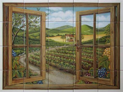 ceramic tile murals for kitchen or barbeque backsplash and