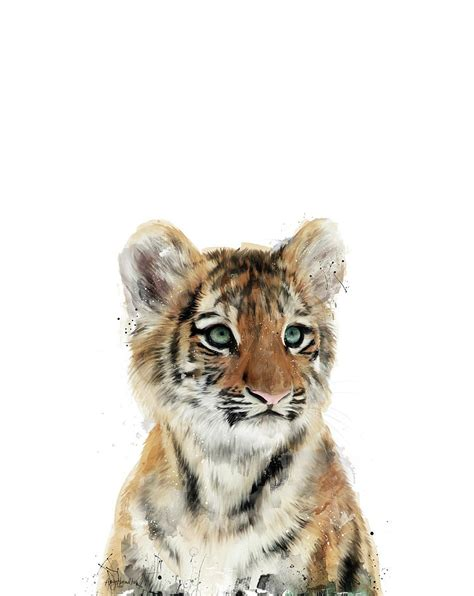 Home Decor Hamilton little tiger painting by amy hamilton