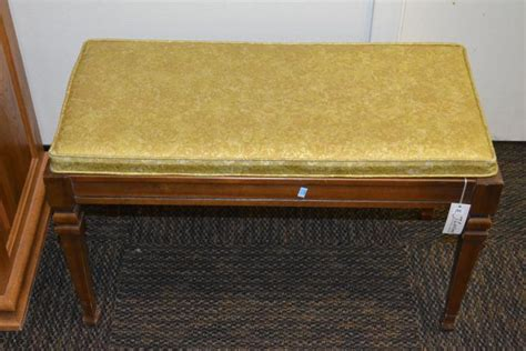 piano bench hinge vintage hinge top upholstered piano stool
