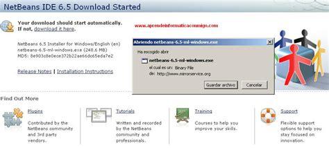 tutorial java y netbeans tutorial instalacion netbeans 6 5 para java