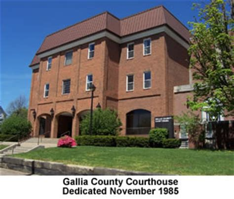 Gallia County Court Records History Of Gallia County Courthouses