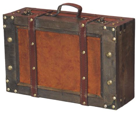 Decorative Suitcase by Style Suitcase With Stripes Small Traditional