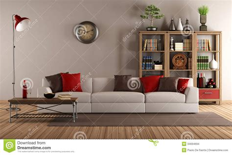 modern sofa   vintage living room stock illustration illustration  wooden sofa
