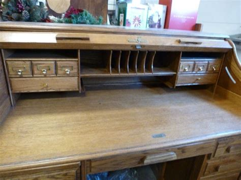 oak crest roll top desk oak crest oak roll top desk s curve pigeon holes with