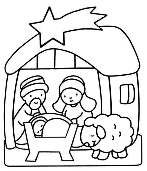 small nativity coloring page dibujos de navidad para colorear gratis