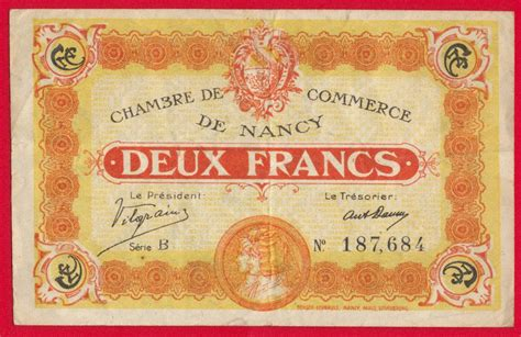chambre de commerce de nancy 2 francs chambre de commerce de nancy fdcollector
