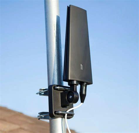 outdoor digital  air amplified  ohm tv antenna  uhf vhf hdtv  mile rng ebay