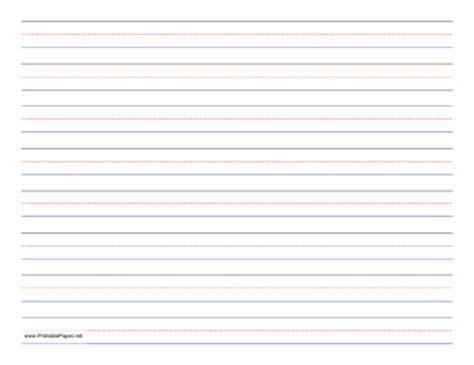 printable writing paper landscape printable penmanship paper 8 colored lines landscape