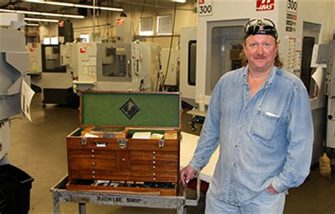 Tool Crib Attendant by Former Machining Student Honored With Gerstner Tool Box