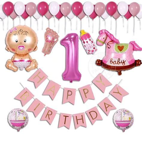 Balon Foil Happy Birthday Size 60 Cm aliexpress buy 38pcs lot baby shower birthday balloon boy 1 year banner happy