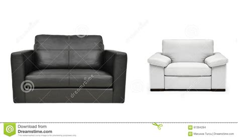 Two Armchairs by Two Armchairs Isolated Stock Photo Image 61394284