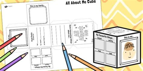 all about me cube template 1000 bilder zu about me auf schulanfang