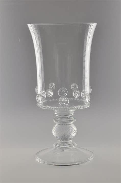 Footed Glass Vase by Juliska Glass Fiorella Grande Footed Vase Clear