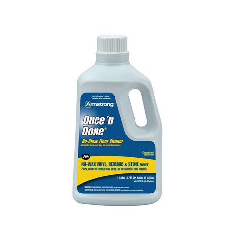 armstrong 1 gal once n done floor cleaner 00330408 the