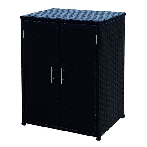 Patio Storage Cabinet Mimosa Mandalay Wicker Outdoor Storage Cabinet I N 3191374 Bunnings Warehouse Gardens