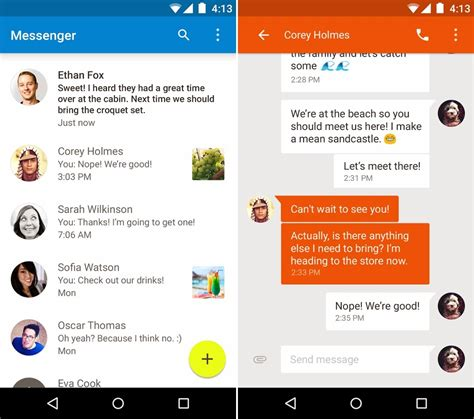 material design adalah google messenger android messages aplikasi sms dan mms