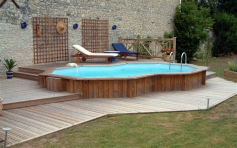 small garden pool ideas above ground pool deck plans design ideas and useful tips