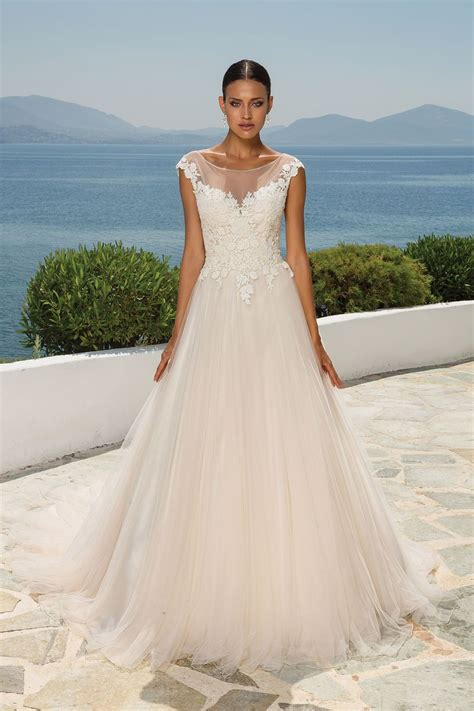 Sabrina Wedding Gown Premium Wedding Gown Style 8852 Lace Sabrina Neckline And Tulle Skirt Bridal