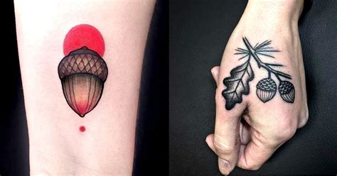 acorn tattoo 12 splendid acorn tattoos tattoodo