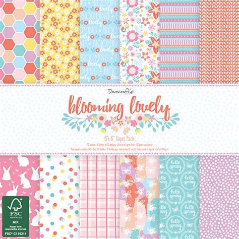 Dove Craft Paper - dovecraft dovecraft blooming lovely 6x6 paper pack