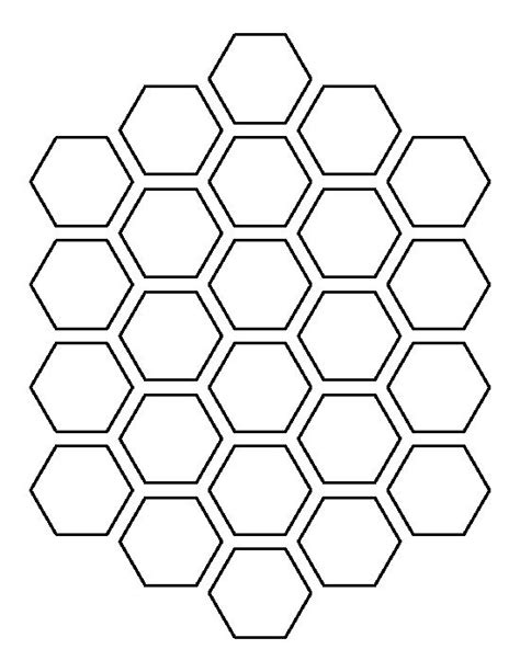 pattern templates honeycomb pattern use the printable outline for crafts