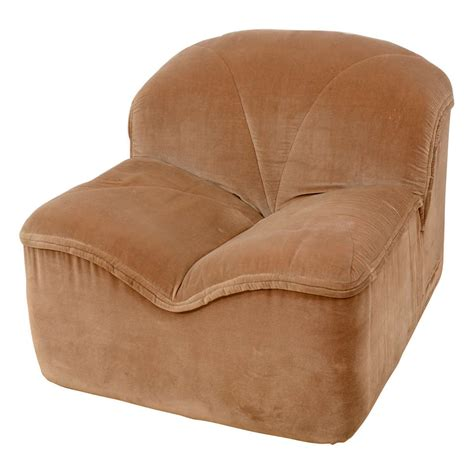 Velvet Lounge Chair by Pace Collection Velvet Lounge Chair For Sale At 1stdibs