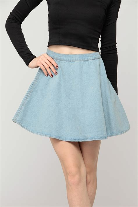 denim circle skirt cicihot store
