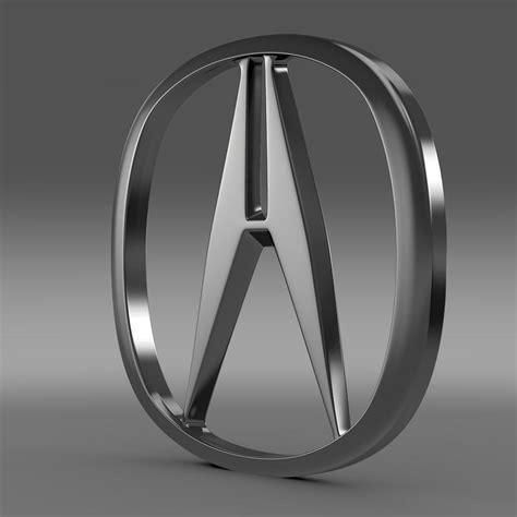 honda acura logo acura logo 3d model flatpyramid