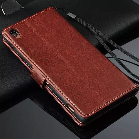 Sony Xperia Z3 Leather Wallet Casing Bumper Cover Dompet Kulit premium leather cover card holder holster z3 flip for sony xperia z3 dual d6603 d6633 photo