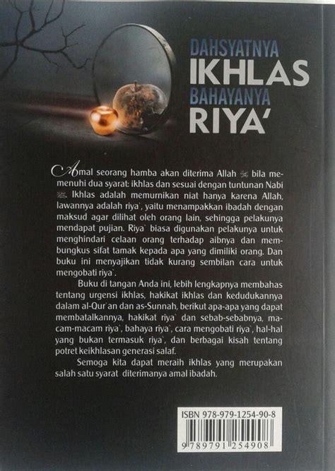 Kumpulan Dzikir Doa Perbuatan Pengusir Setan Darul Haq Riniaga buku dahsyatnya ikhlas bahayanya riya