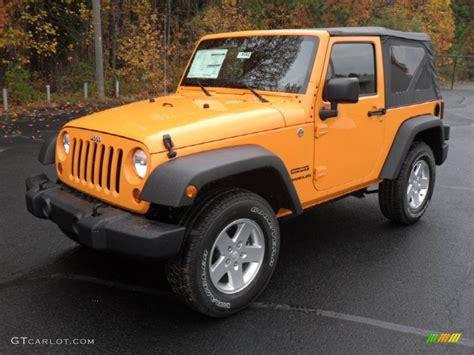 2012 jeep wrangler colors 2012 dozer yellow jeep wrangler sport s 4x4 56348966