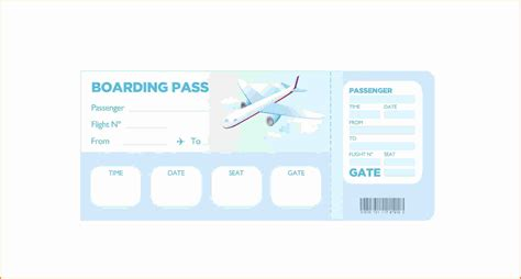Boarding Pass Template 9 boarding pass template cashier resume