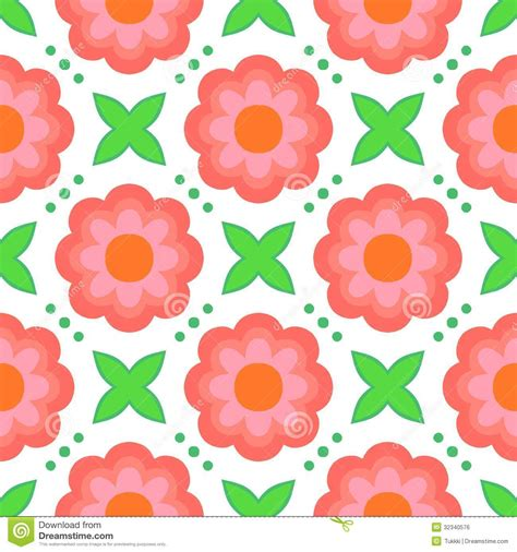 20973 Bold Retro Pattern S M L pattern with bold stylized flowers in 1970s style royalty